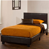 Springfield ''Bed in a Box'' Bed Set - Twin in Brown (Includes Headboard, Footboard & Rails), 41-3/4''W x 77-1/4''D x 35''H