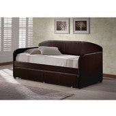 Springfield Daybed w/Trundle, Brown, 42-1/2''W x 82-1/2''D x 39-1/4''H