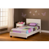 Springfield ''Bed in a Box'' Bed Set - Twin in White (Includes Headboard, Footboard & Rails), 41-3/4''W x 77-1/4''D x 35''H