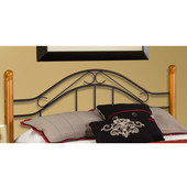 Winsloh Collection Full/Queen Headboard Bed Set with Rails in Black/Medium Oak (Set Includes: Headboard and Rails)