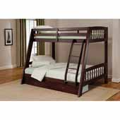 Rockdale Twin Bunk Bed Set, Espresso, 54''W x 78-3/8''D x 62-3/4''H