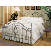 Milano Collection Full Bed Set with Rails in Antique Pewter (Set Includes: Headboard, Footboard and Rails)