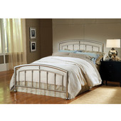 Claudia Collection Full Bed Set with Rails in Matte Nickel (Set Includes: Headboard, Footboard and Rails)