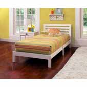 Aiden Twin Bed Set, White, 42-1/4''W x 77''D x 35-1/4''H