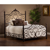 Baremore Collection King Bed Set with Rails in Antique Brown (Set Includes: Headboard, Footboard and Rails)