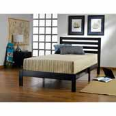 Aiden Twin Bed Set, Black, 42-1/4''W x 77''D x 35-1/4''H
