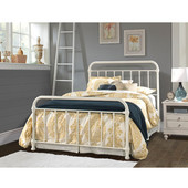 Kirkland Collection in Multiple Sizes Bed Set with Bed Frame Included in Soft White, 55'' W x 76-3/4'' D x 50-1/2'' H