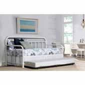 Kirkland Twin Daybed with Trundle, Soft White, 86-1/2''W x 40-1/2''D x 42''H