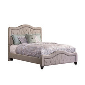 Hillsdale Trieste Queen Bed Set- Rails Included in Dove Gray Linen Finish with Dove Gray Linen Fabric