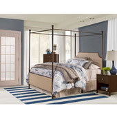 McArthur King Canopy Bed Set With Bed Frame, Bronze Finish