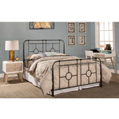 Trenton Twin Bed Set with Bed Frame, Black Sparkle Finish, 41''W x 71-1/4''D x 50-1/2''H