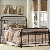 Kirkland Collection in Multiple Sizes Bed Set with Bed Frame Included in Dark Bronze, 40'' W x 76-3/4'' D x 54'' H