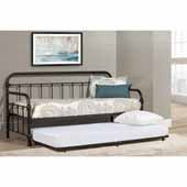 Kirkland Twin Daybed with Trundle, Dark Bronze, 86-1/2''W x 40-1/2''D x 42''H