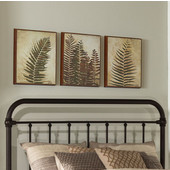 Kirkland Collection in Multiple Sizes Headboard with Headboard Frame Included in Dark Bronze, 40'' W x 65-3/4'' D x 54'' H