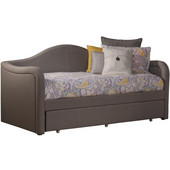 Porter Daybed with Trundle Unit, Dove Gray Linen
