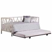 Hayward Daybed with Suspension Deck and Trundle, Textured White, 39-1/4''W x 79-3/8''D x 35''H