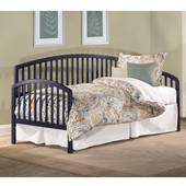 Carolina Twin Daybed with Suspension Deck and Trundle, Navy Wood Finish, 76''W x 39-1/4''D x 40''H