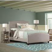 Full Size Kerstein Bed Set with Rails in Dove Gray, 59'' Wide (Set Includes: Headboard, Footboard and Side Rails)