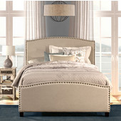 Full Size Kerstein Bed Set with Rails in Light Taupe, 59'' Wide (Set Includes: Headboard, Footboard and Side Rails)