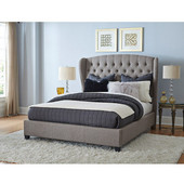 Bromley Queen Bed Set with Bed Rails, Orly Gray Finish, 70-1/2''W x 82''D x 61-7/8''H