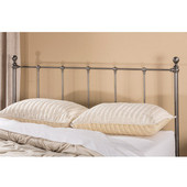 Hillsdale Molly Collection Queen Sized Bed Set Black Steel  Finish, with Rails, Headboard