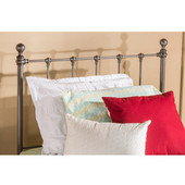 Hillsdale Molly Collection Twin Sized Bed Set Black Steel  Finish, with Rails, Headboard