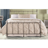 Hillsdale Molly Collection Queen Sized Bed Set Black Steel  Finish, with Rails, Headboard, Footboard