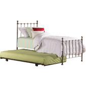 Molly Collection Twin Sized Bed Set White Finish, with Rails, Headboard, Footboard and Trundle