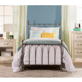 Hillsdale Molly Collection Twin Sized Bed Set Black Steel  Finish, with Rails, Headboard, Footboard