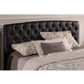 Hawthorne Queen Headboard with Frame, Faux Leather, 63''W x 82''D x 46-1/4''H