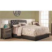 Hawthorne Queen Bed Set with Bed Rails, Faux Leather,  63''W x 3-1/2''D x 46-3/4''H
