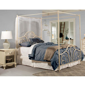 Dover Complete Queen Bed Set with Bed Frame, Cream Finish, 61''W x 83-1/2''D x 80''H