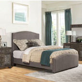 Kerstein Collection in Multiple Sizes Bed Set with Rails Included, Orly Gray Fabric, 65'' W x 91'' D x 58-45/64'' H