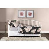 Brandi Daybed with Metal Suspension Deck Included in White Finish, 32-1/4'' W x 82'' D x 40-1/4'' H