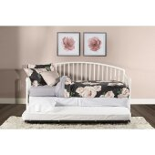 Brandi Daybed Metal Suspension Deck and Metal Trundle Unit Included in White Finish, 32-1/4'' W x 82'' D x 40-1/4'' H
