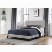 Delaney Collection Bed in One in Multiple Sizes with Glacier Gray Fabric, 58'' W x 83-1/8'' D x 45-1/4'' H