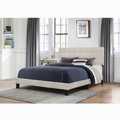 Delaney Collection Bed in One in Multiple Sizes with Fog Fabric, 58'' W x 83-1/8'' D x 45-1/4'' H