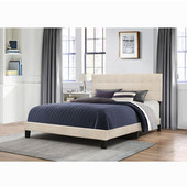 Delaney Collection Bed in One in Multiple Sizes with Linen Fabric, 58'' W x 83-1/8'' D x 45-1/4'' H