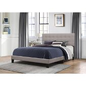 Delaney Full Size Bed in One in Stone Fabric, 58'' W, Available in Other Bed Sizes