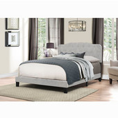 Nicole Collection Bed in One in Multiple Sizes in Glacier Gray Fabric, 57-3/4'' W x 83'' D x 48'' H