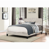 Nicole Collection Bed in One in Multiple Sizes in Fog Fabric, 57-3/4'' W x 83'' D x 48'' H