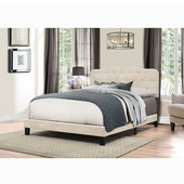 Nicole Collection Bed in One in Multiple Sizes in Linen Fabric, 57-3/4'' W x 83'' D x 48'' H