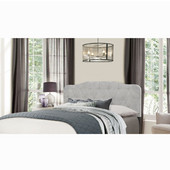Nicole Collection Full/Queen Size Headboard with Headboard Frame Included in Glacier Gray Fabric, 64-1/4'' W x 75'' D x 48'' H