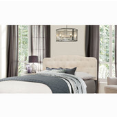 Nicole Collection Full/Queen Size Headboard with Headboard Frame Included in Linen Fabric, 64-1/4'' W x 75'' D x 48'' H