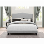 Kiley Collection Bed in One in Multiple Sizes with Glacier Gray Fabric, 57-3/4'' W x 82-1/2'' D x 49-1/4'' H
