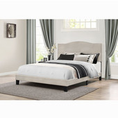 Kiley Collection Bed in One in Multiple Sizes with Fog Fabric, 57-3/4'' W x 82-1/2'' D x 49-1/4'' H