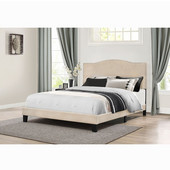 Kiley Collection Bed in One in Multiple Sizes with Linen Fabric, 57-3/4'' W x 82-1/2'' D x 49-1/4'' H
