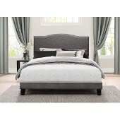 Kiley Full Size Bed in One in Stone Fabric, 57-3/4'' W, Available in Other Bed Sizes