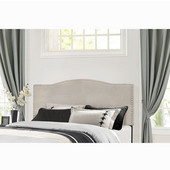 Kiley Collection Full/Queen Size Headboard with Headboard Frame Included, Fog Fabric, 64-3/8'' W x 74-1/2'' D x 49-1/4'' H