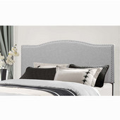 Kiley Collection Full/Queen Size Headboard with Headboard Frame Included, Glacier Gray Fabric, 64-3/8'' W x 74-1/2'' D x 49-1/4'' H